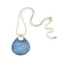 Blue Punch Resin Necklace