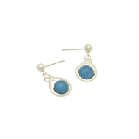 Blue and Silver Droplet Earrings