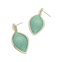 Mint Green Teardop Earrings