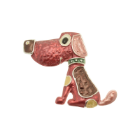 Red Dog brooch