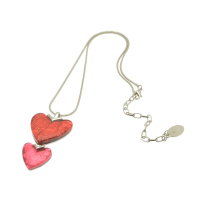 Red and Pink Heart Necklace