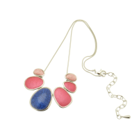 Blue and Pink Necklace