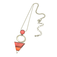 Pink Pyramid Necklace