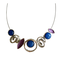 Blue and Purple Necklace