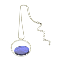 Blue Lozenge Necklace