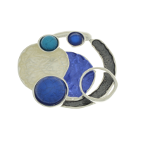 Blue and Grey Brooch
