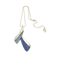 Royal Blue and Powder Blue Tie Necklace