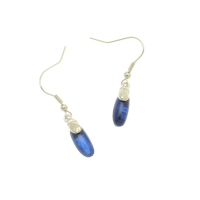 Blue Resin Droplet earring
