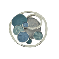 Blue, Grey and Silver Brooch