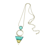 Aqua and Green Necklace