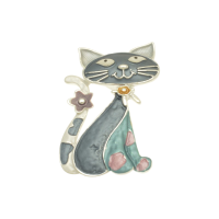 Magnetic Cat Brooch