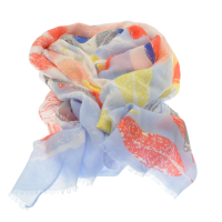 Multicolour Pointed Leaf Scarf