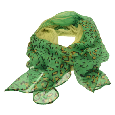 SC169 Green Animal Scarf