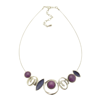 Purple and Blue Necklace