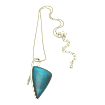 FN207 Aqua Arrow Necklace