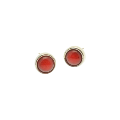 Red Marble Resin Studs
