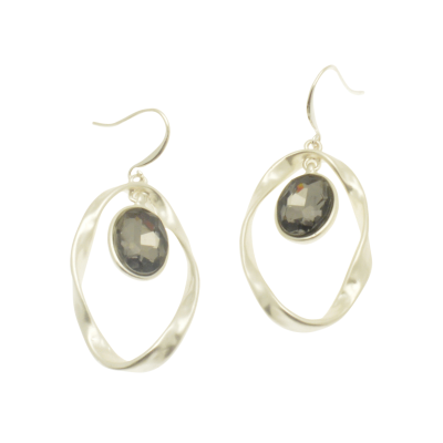 CE77 Silver Loop Earrings