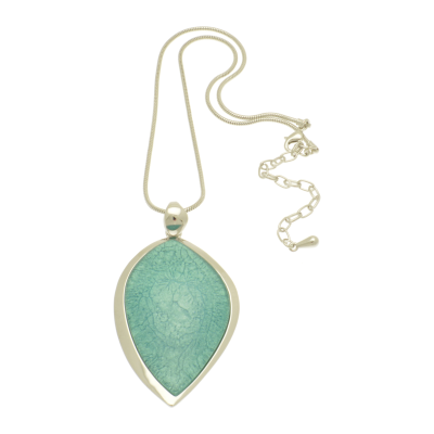 Mint Teardrop Necklace