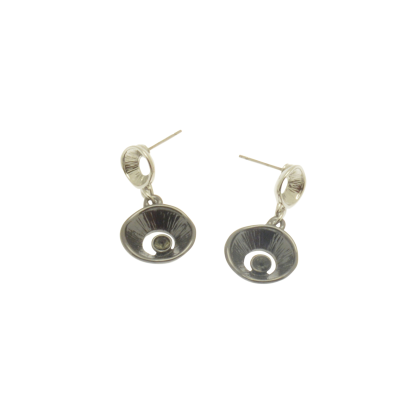 Gunmetal Crystal Earrings CE79