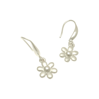 FE399 Silver Dahlia Earrings