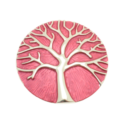 Pink Tree Of Life Brooch