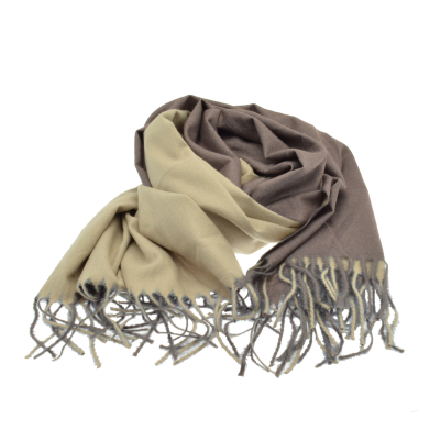 Grey & Cream Reversible Scarf