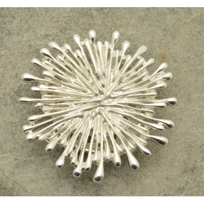FBR324 Silver Spoke Brooch