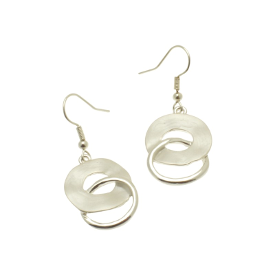 White Swirl Earrings