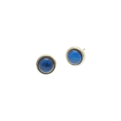 Mid Blue Foil Resin Studs