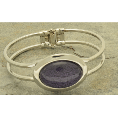 FB66 Purple Marble Resin Bracelet