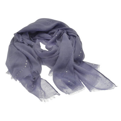 SC154 Blue Sequin Scarf