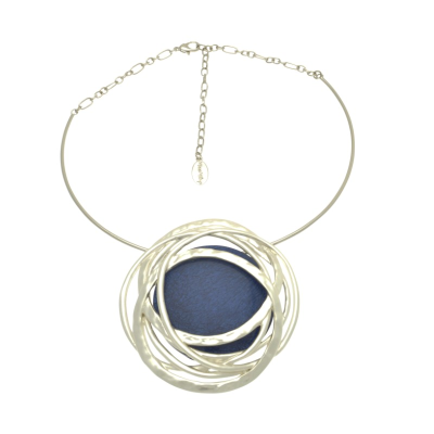 Bold Blue and Silver Necklace