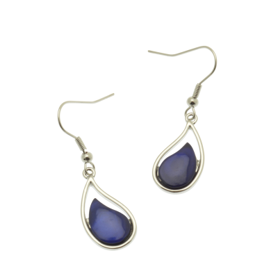 Blue Droplet Earrings