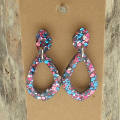 Multicolour Glitter Earrings