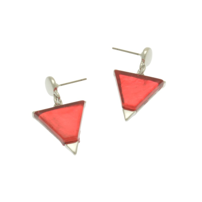 Pink Pyramid Earrings
