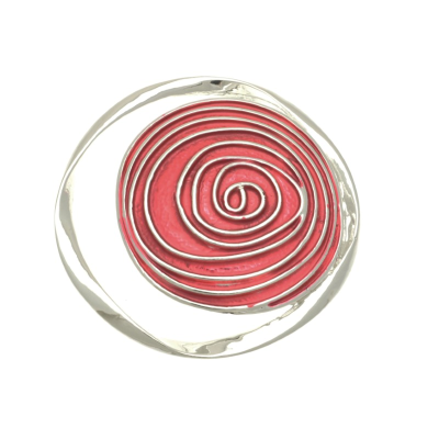 Pink Red Magnetic Brooch