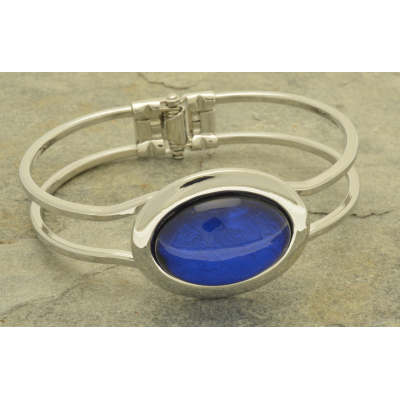 FB66 Blue Foil Resin Bracelet