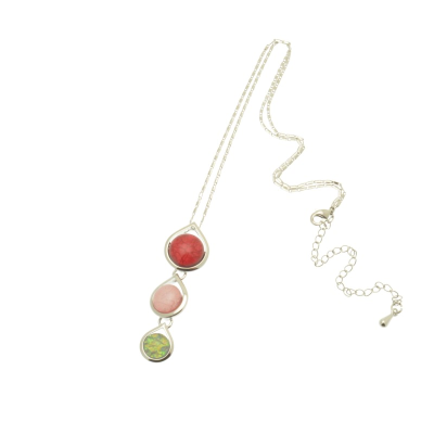 Pink Triple Necklace