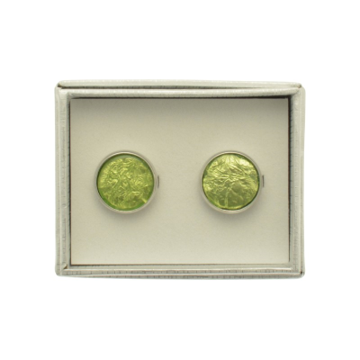 Lime Green Cufflinks