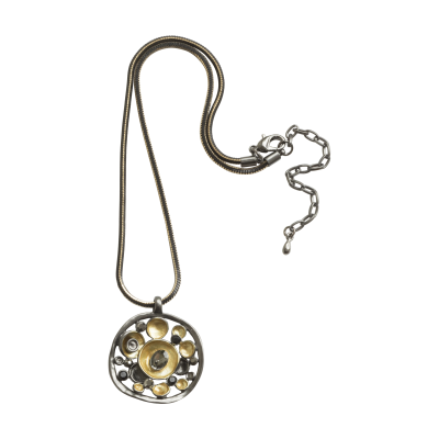 CN64 Gold & Grey Disc Pendant