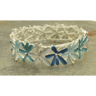 FB316 Blue Bouquet Bracelet