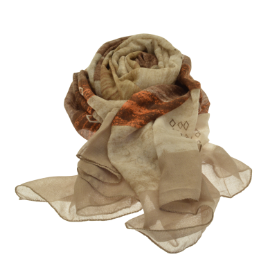 Brown and Taupe Scarf