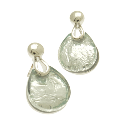 Silver Punch Earrings