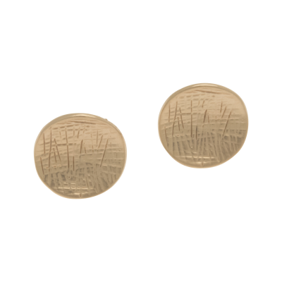 FE146 Rose Gold Button Earrings