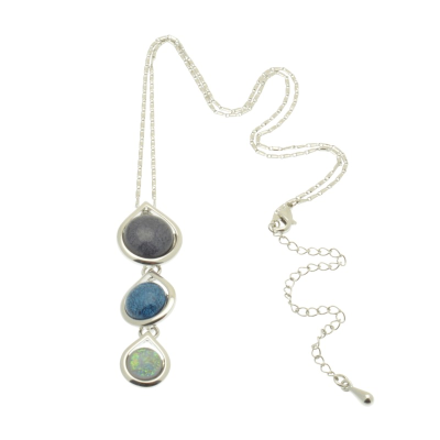 Indigo and Blue Necklace