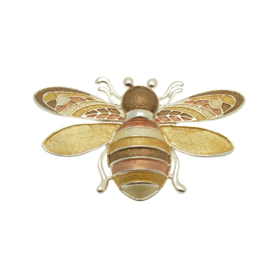 Yellow Bee Brooch