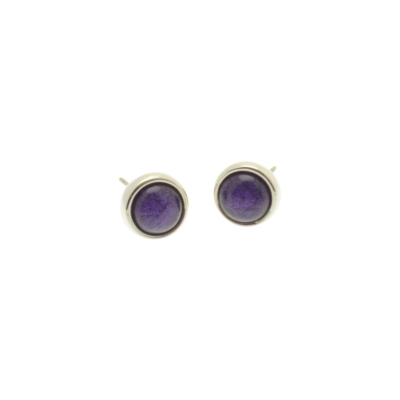 Purple Marble Resin Studs