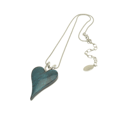 Teal Heart Necklace