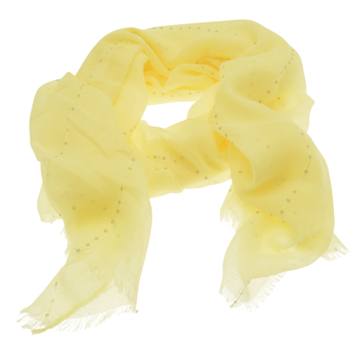 SC154 Yellow Sequin Scarf