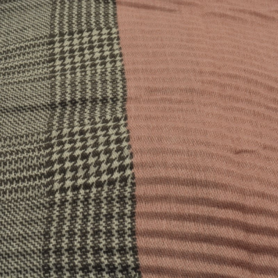 SC182 Pink & Grey Double Scarf
